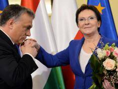 Hungarian PM Orban in Warsaw