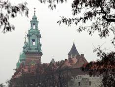 An outside view of Wawel castle.